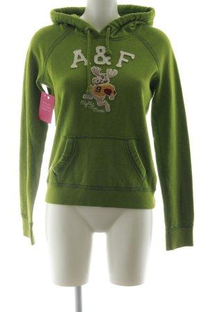 Abercrombie & Fitch Kapuzensweatshirt grasgrün Casual-Look