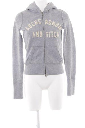 Abercrombie & Fitch Sweat à capuche gris style décontracté
