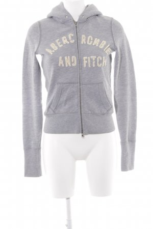 Abercrombie & Fitch Kapuzensweatshirt grau Casual-Look