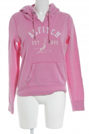 Abercrombie & Fitch Kapuzensweatshirt pink-weiß Casual-Look
