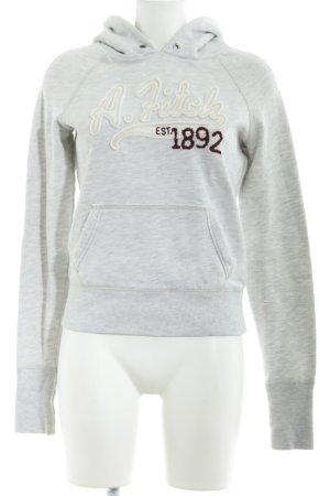 Abercrombie & Fitch Kapuzensweatshirt Schriftzug gestickt sportlicher Stil