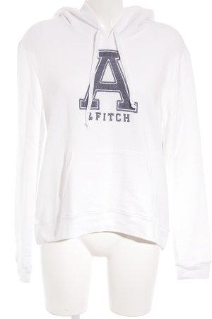 Abercrombie & Fitch Kapuzensweatshirt weiß Casual-Look