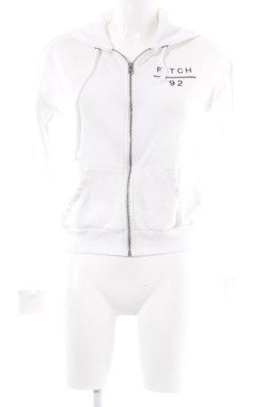 Abercrombie & Fitch Kapuzensweatshirt wollweiß Schriftzug gedruckt Casual-Look