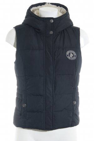 Abercrombie & Fitch Capuchon vest donkerblauw-room casual uitstraling