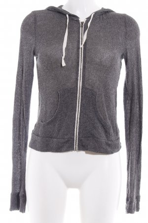 Abercrombie & Fitch Hooded Vest grey-dark grey weave pattern casual look