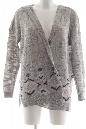 Abercrombie & Fitch Hooded Vest light grey flecked casual look
