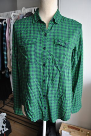 Abercrombie & Fitch Long Sleeve Shirt forest green-dark blue