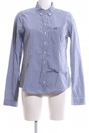 Abercrombie & Fitch Checked Blouse blue-white check pattern casual look