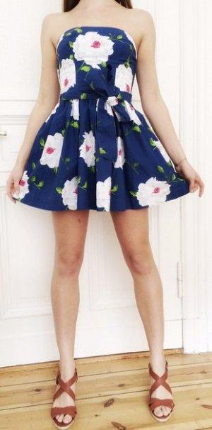 Abercrombie & Fitch Kleid Bandeau Blumen Frühling Sommer 34 XS