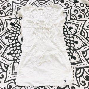 Abercrombie & Fitch Kleid Gr S weiß Sommerkleid Longshirt