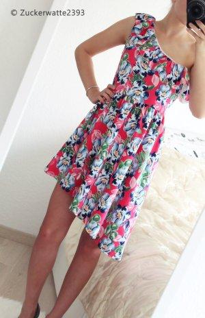 Abercrombie & Fitch Kleid mit Blumenprint 34/XS 36/S Rot