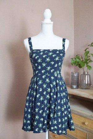 Abercrombie & Fitch Kleid Sommerkleid Baumwolle blau Blumen XS 34