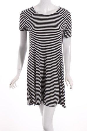 Abercrombie & Fitch Kleid weiß-schwarz Streifenmuster Casual-Look