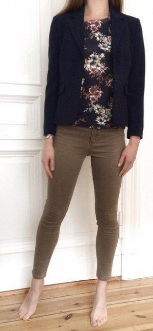 Abercrombie & Fitch Knöchelhose Knöcheljeans Jeggings Jeans Khaki beige Stretch High Rise 0R W25
