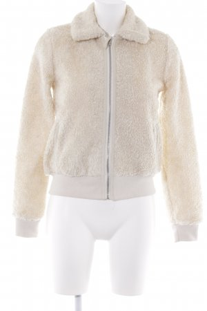 Abercrombie & Fitch Fake Fur Jacket cream casual look