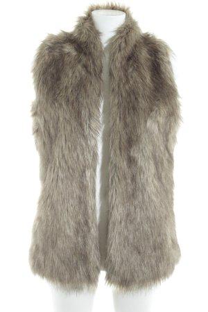 Abercrombie & Fitch Vest van imitatiebont room-grijs-bruin gestippeld