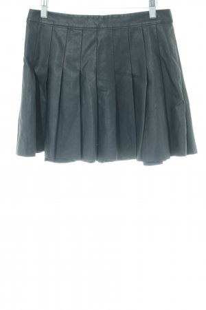 Abercrombie & Fitch Faux Leather Skirt green business style