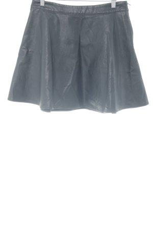 Abercrombie & Fitch Falda de cuero de imitación negro elegante