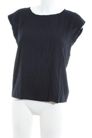 Abercrombie & Fitch Kurzarm-Bluse schwarz Casual-Look