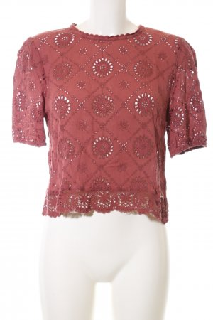 Abercrombie & Fitch Kurzarm-Bluse rot Casual-Look