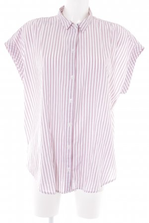 Abercrombie & Fitch Short Sleeve Shirt white-purple striped pattern casual look