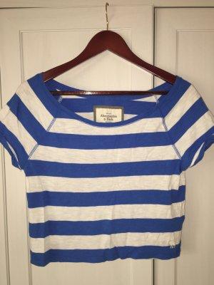 Abercrombie & Fitch, Kurzes T-Shirt,  gestreift