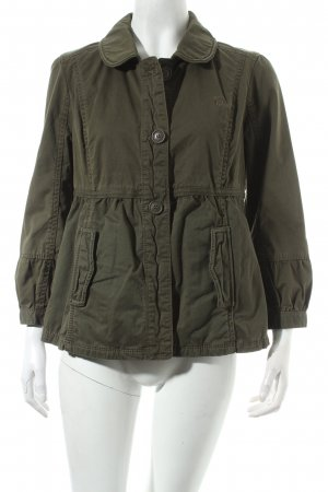 Abercrombie & Fitch Short Jacket olive green simple style