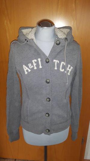 Abercrombie & Fitch Giacca con cappuccio grigio chiaro-grigio