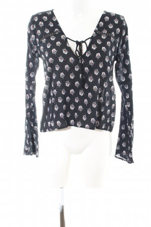 Abercrombie & Fitch Langarm-Bluse Blumenmuster Casual-Look