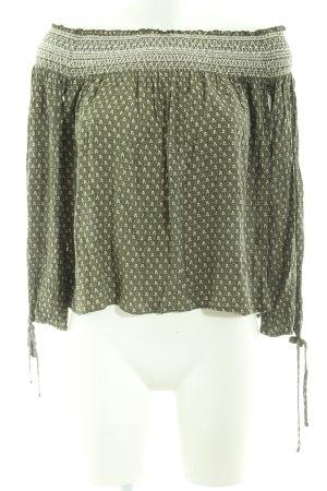 Abercrombie & Fitch Langarm-Bluse Allover-Druck extravaganter Stil
