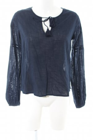 Abercrombie & Fitch Langarm-Bluse blau Casual-Look