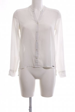 Abercrombie & Fitch Long Sleeve Blouse white business style