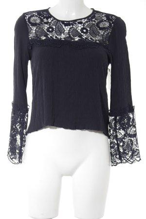 Abercrombie & Fitch Langarm-Bluse dunkelblau Elegant
