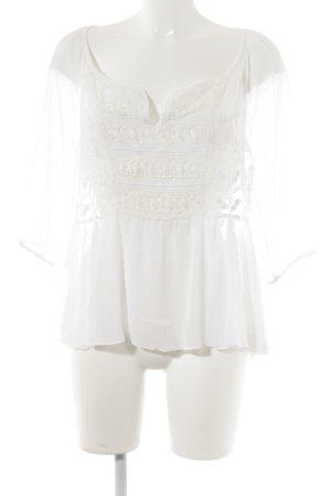 Abercrombie & Fitch Langarm-Bluse weiß Street-Fashion-Look