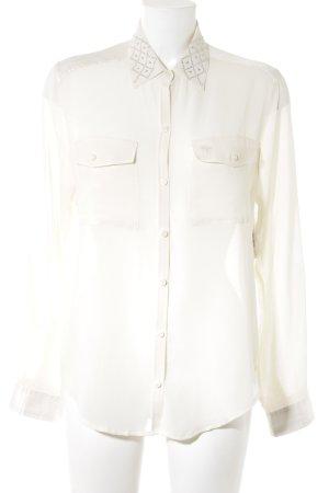 Abercrombie & Fitch Langarm-Bluse wollweiß Elegant
