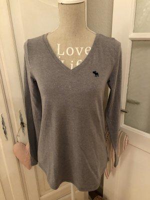 Abercrombie & Fitch Jersey con cuello de pico gris claro-gris