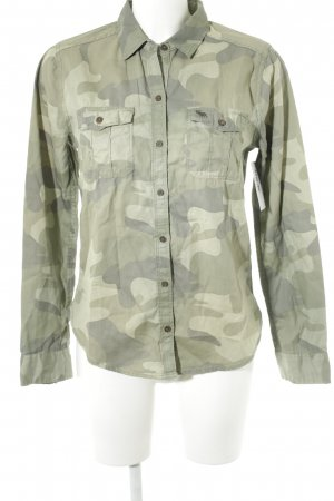 Abercrombie & Fitch Long Sleeve Shirt camouflage pattern casual look