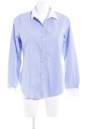 Abercrombie & Fitch Langarmhemd himmelblau-weiß Business-Look