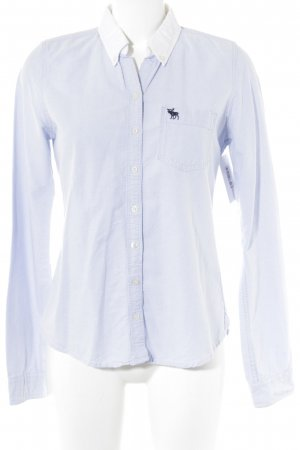 Abercrombie & Fitch Langarmhemd himmelblau-wollweiß Casual-Look