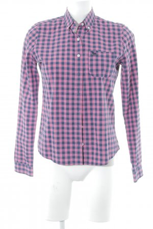Abercrombie & Fitch Langarmhemd pink-dunkelblau Karomuster Casual-Look
