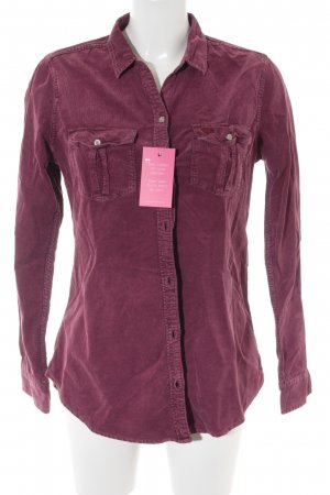 Abercrombie & Fitch Langarmhemd purpur Casual-Look