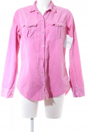 Abercrombie & Fitch Langarmhemd rosa Casual-Look