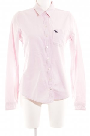 Abercrombie & Fitch Long Sleeve Shirt pink casual look