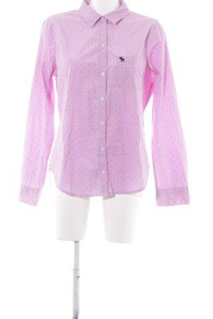 Abercrombie & Fitch Chemise à manches longues rose-bleu foncé rayure fine