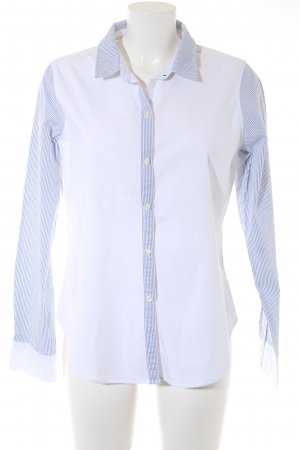 Abercrombie & Fitch Long Sleeve Shirt white-blue striped pattern