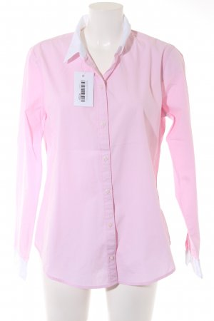 Abercrombie & Fitch Langarmhemd weiß-rosa Casual-Look