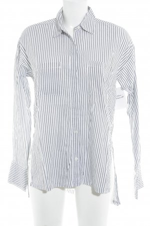 Abercrombie & Fitch Long Sleeve Shirt white-black striped pattern casual look
