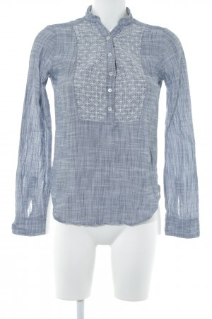 Abercrombie & Fitch Langarmhemd wollweiß-dunkelblau meliert Casual-Look