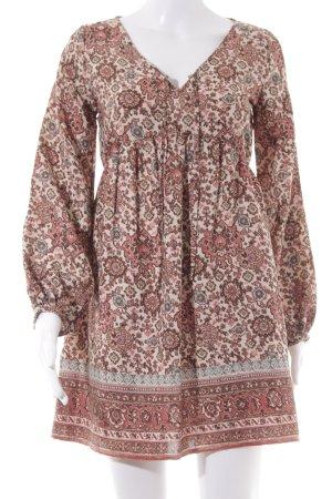 Abercrombie & Fitch Jurk met lange mouwen bloemenprint romantische stijl
