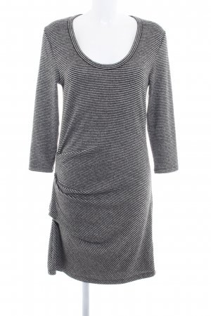 Abercrombie & Fitch Langarmkleid schwarz-grau Streifenmuster Casual-Look